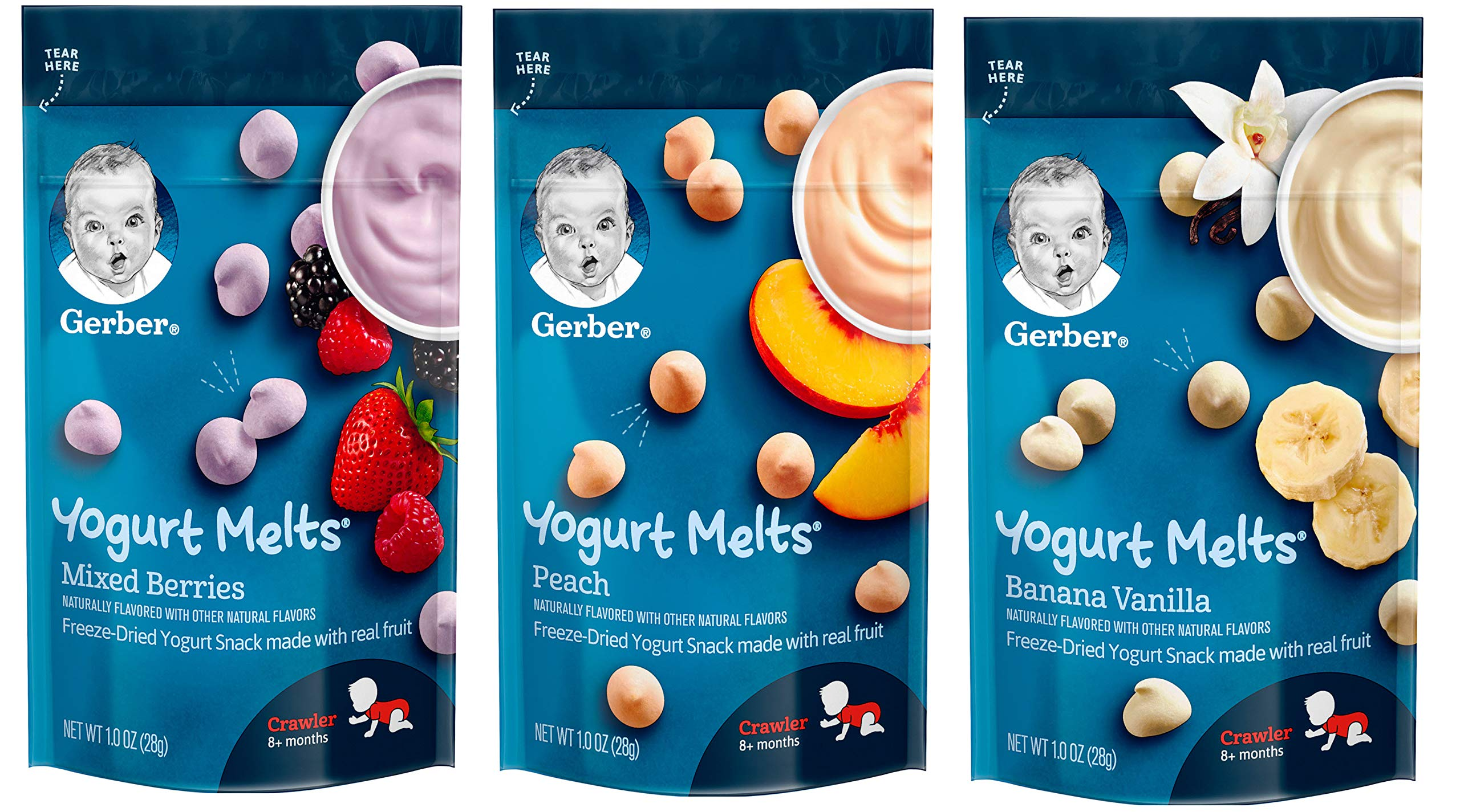 Gerber Graduates Cereal Variety Snack Pack Sampler of Puffs, Yogurt Melts, Lil Crunchies + 1 Snack Catcher; Bundle of 10 by Narrow Path Sales (Image #9)