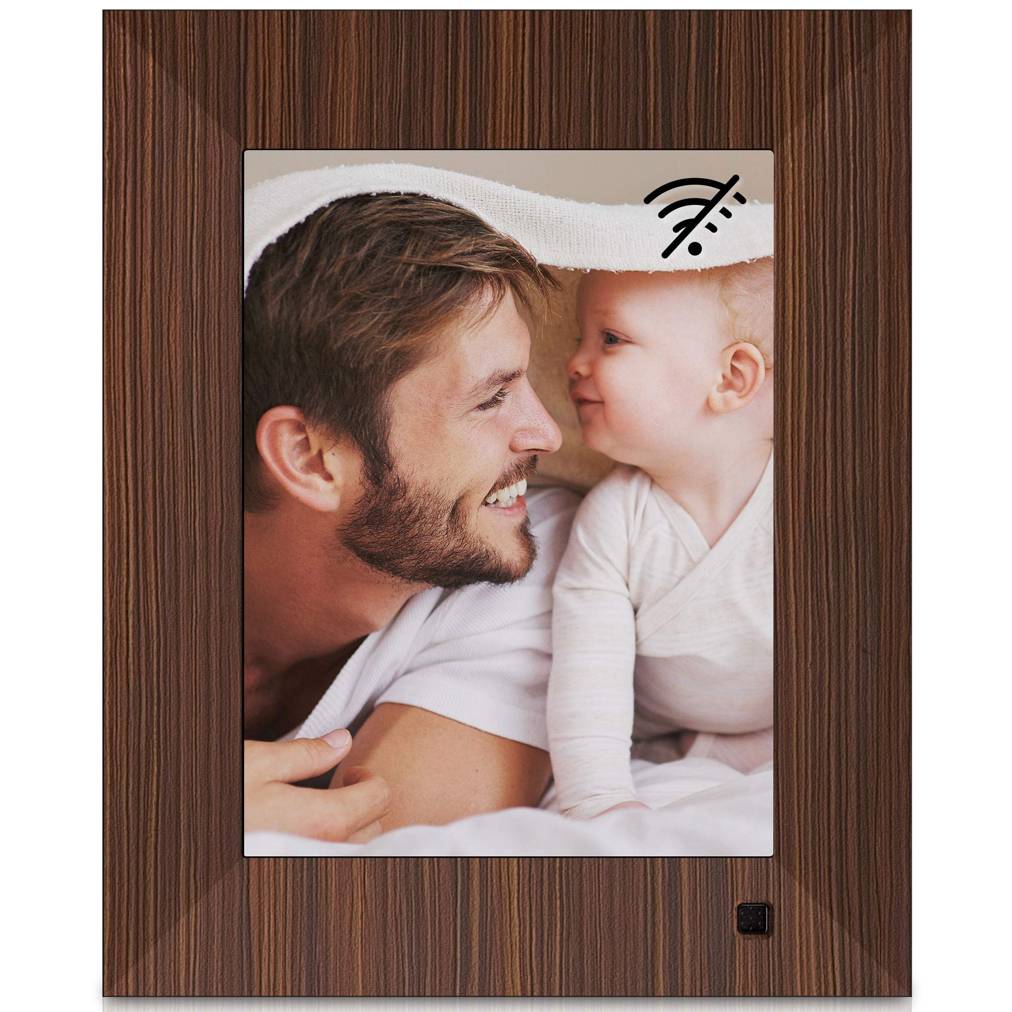 NIX Lux 8-Inch Digital Photo Frame X08F Wood (Non-WiFi) - Wall-Mountable Digital Frame with 1024x768 XGA IPS Display, Motion Sensor, USB and SD Card Slots and Remote Control, 8 GB USB Stick Included by NIX