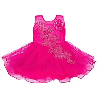 0f06d2a21 Wish Karo Baby Girls Net Partywear Frock Dress - (fe1051)  Amazon.in ...