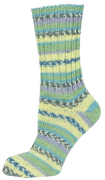Mysocks® Calcetines de lana irlandesa de la Virgen de las mujeres con los verdes verdes amarillos: Amazon.es: Ropa y accesorios