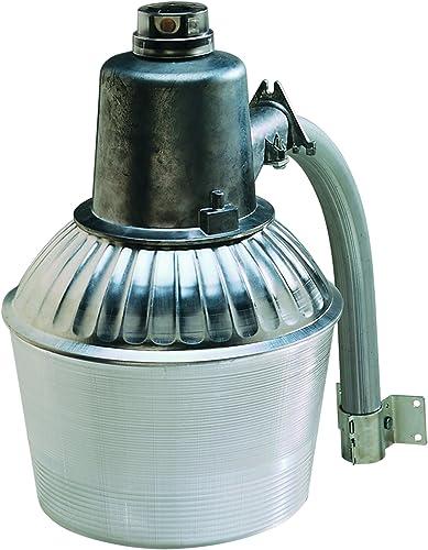 Heath Zenith HZ-5666-AL 100-watt High Pressure Sodium Security Light and Extension Arm, Zinc Silver