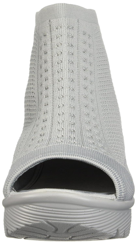 Skechers49829 - Parallel Tight Knit, Zehenfrei, Stretch, Strick, Sandale Damen   Damen Grau 6f2049