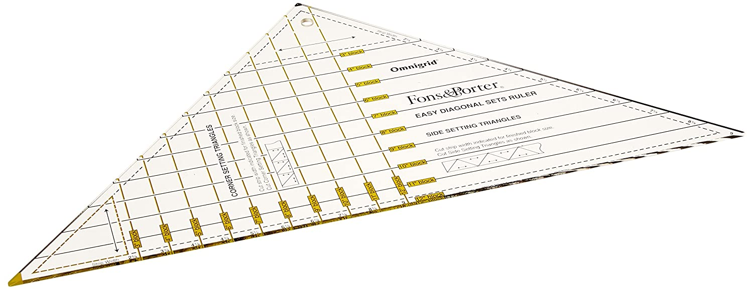 Dritz Fons and Porter 3 to 12-Inch Easy Diagonal Sets Ruler Fons & Porter R7842