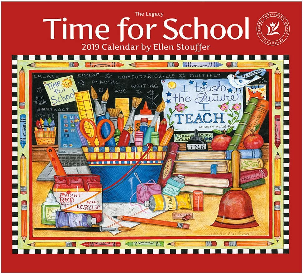 2019 Wall Calendar, Time for School