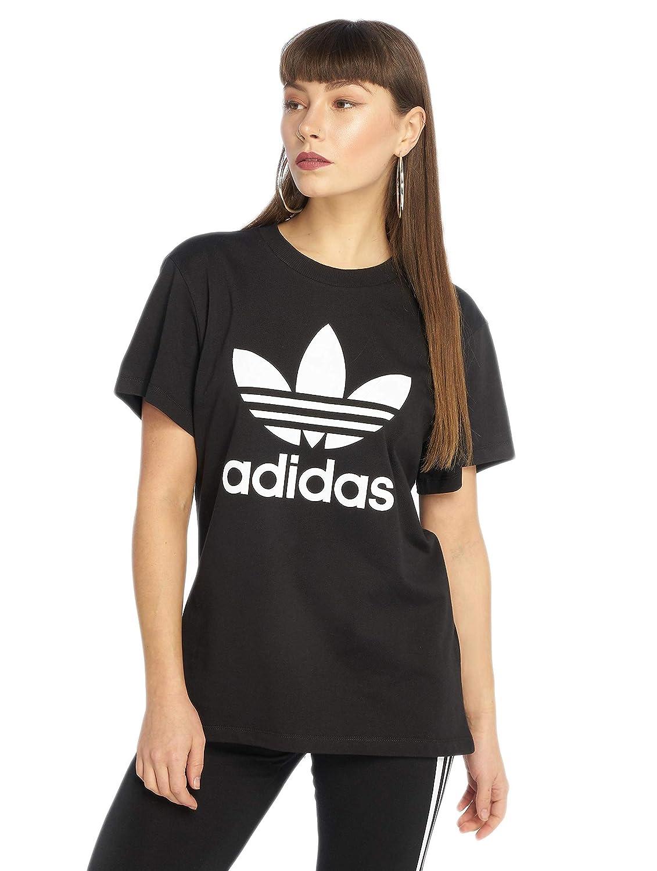 adidas Originals Damen T Shirts Boyfriend schwarz 38: Amazon