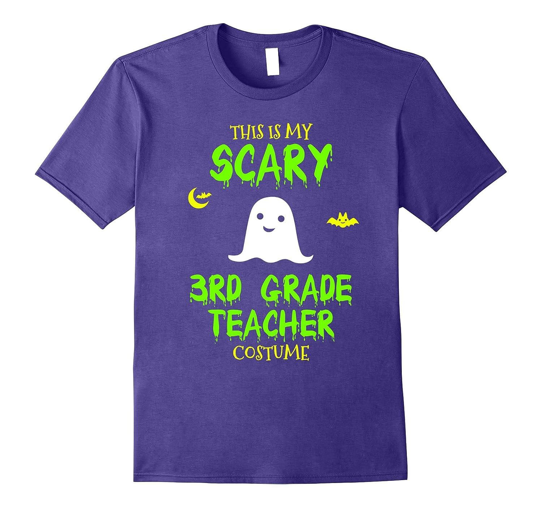 Scary 3rd Third Grade Teacher Costume Halloween T-Shirt-TJ