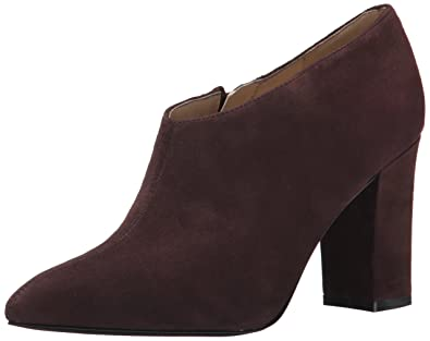 Nine West Women's Zanta Suede Boot, Dark Brown, ...
