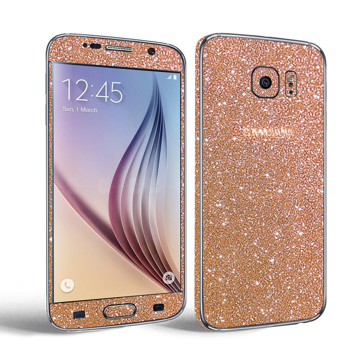 Samsung Galaxy S7 Edge Glitter Skin Sticker Toeoe Full Asoftcase S8 Plus Body Protector Film Decal With A Clear Case For Shock Absorbing