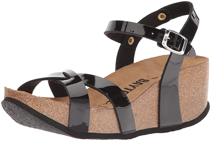 Bayton Women's Venus Sandal, Black, 39 Medium EU (8 US)