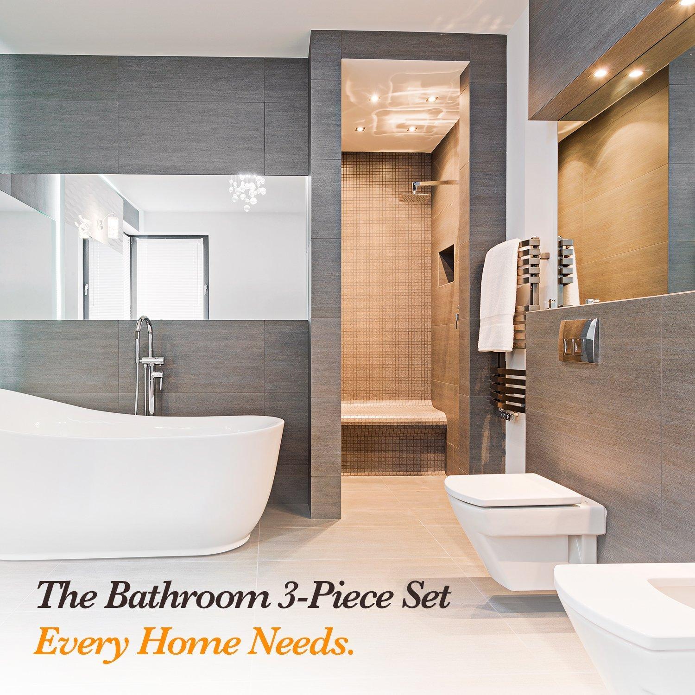 HOMESTORES Steampunk Clocks.jpeg Bath Mat Bathroom Carpet Rug Washable Non-Slip 3 Piece Bathroom Mat Set by HOMESTORES (Image #6)