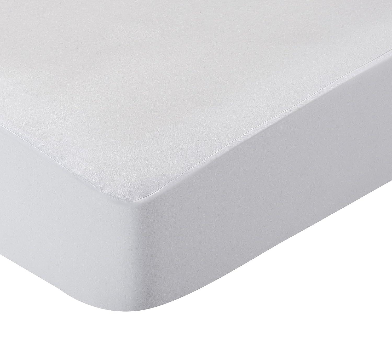 Pikolin Home Anti-Allergy Mattress Protector–Flannel, Non-Allergenic, Breathable, 100% Cotton Cama 140 (140 x 190 cm) white PR201 PR12G00PK_BLANCO-140x190