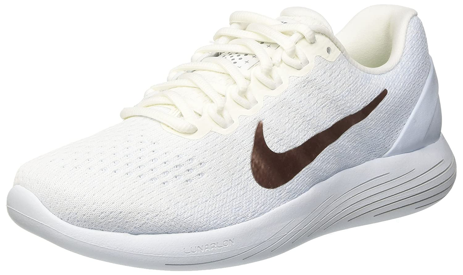 NIKE Women's Lunarglide 9 Running Shoe B073D7P5W6 6 B(M) US|Summit White/Mtlc Red Bronze