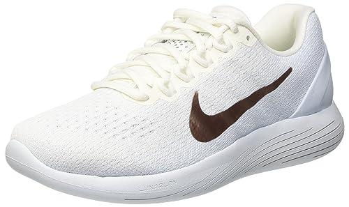 Nike Wmns Lunarglide 9 X-Plore, Scarpe Running Donna, Bianco (Summit White/Blue Tint/Metallic Red Bronze), 42.5 EU