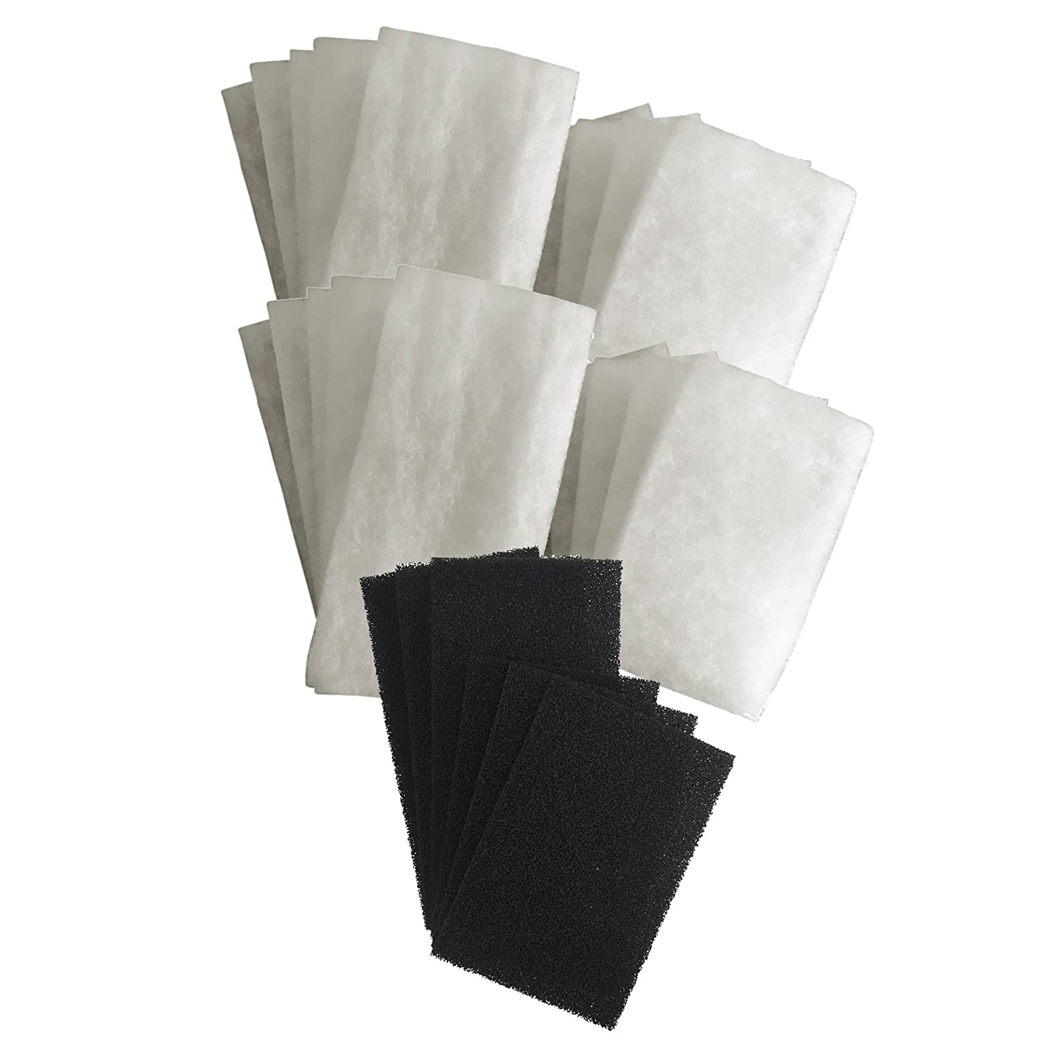20 x AquaOne 620   620T Compatible DELUXE Poly Wool Filter Pads and 6 X Carbon Filter Pads