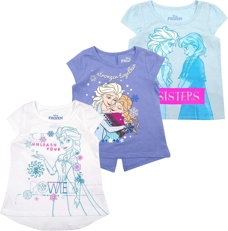 Disney Frozen Toddler Girls Long Sleeve Tee Elsa Ana Olaf Size 2T 3T 4T Gift New