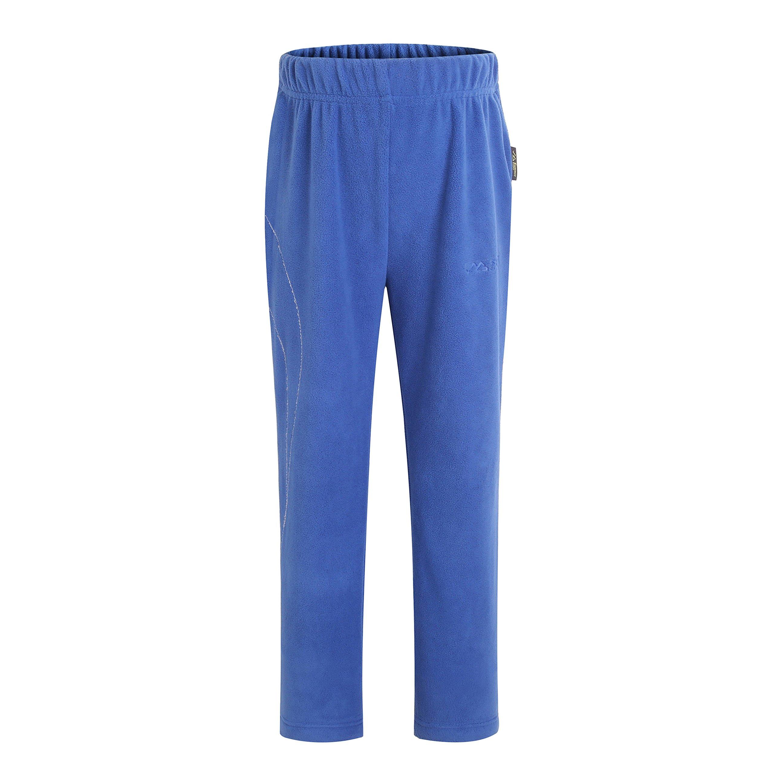 Summit Glory Kid's Microfleece Pants Blue 7-9 T