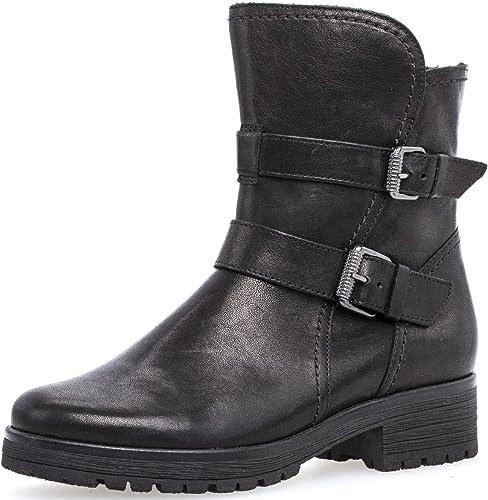 GABOR Stiefel schwarz Leder Gr.38 neu