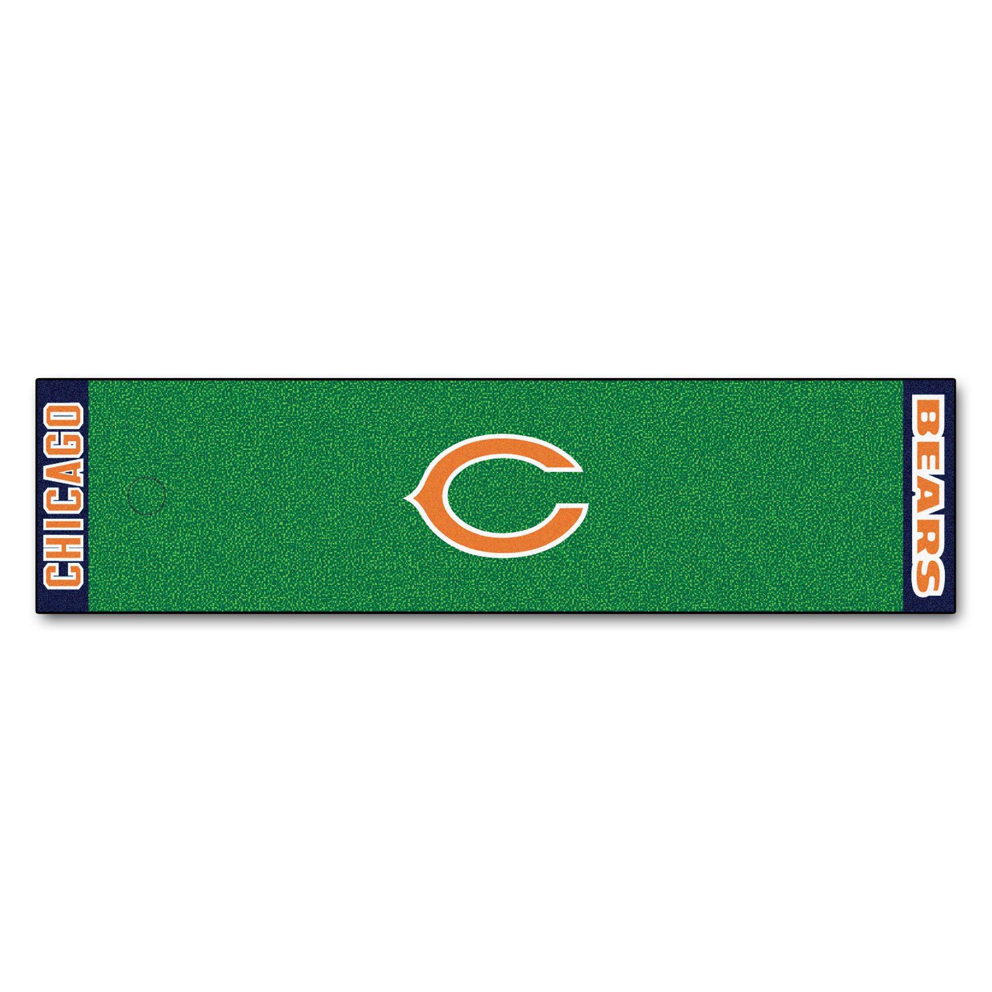 Fanmats NFL Chicago Bears Nylon Face Putting Green Mat