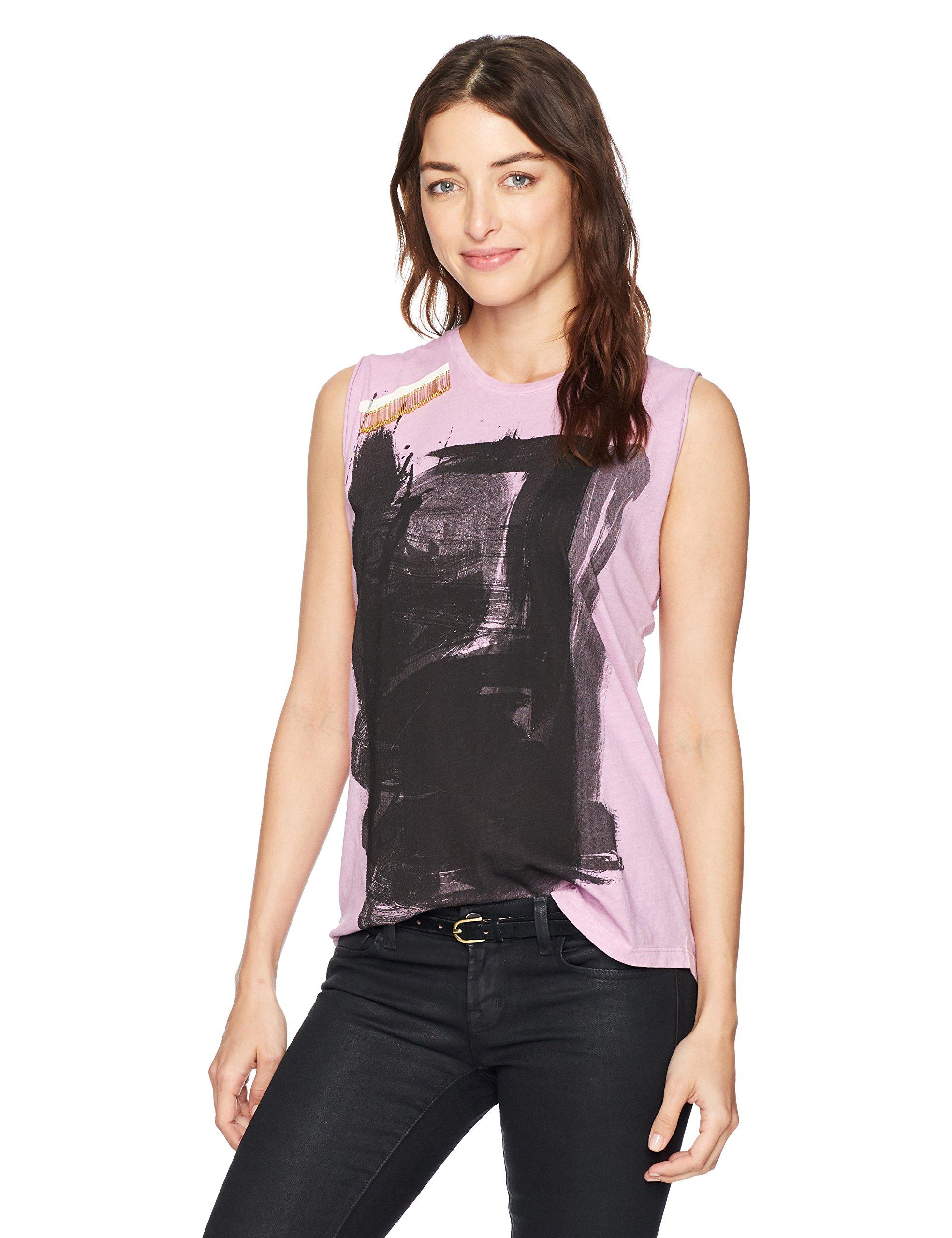 FREECITY Women's Paintbox Sleeveless T-Shirt W/Pins, Magical Love, M