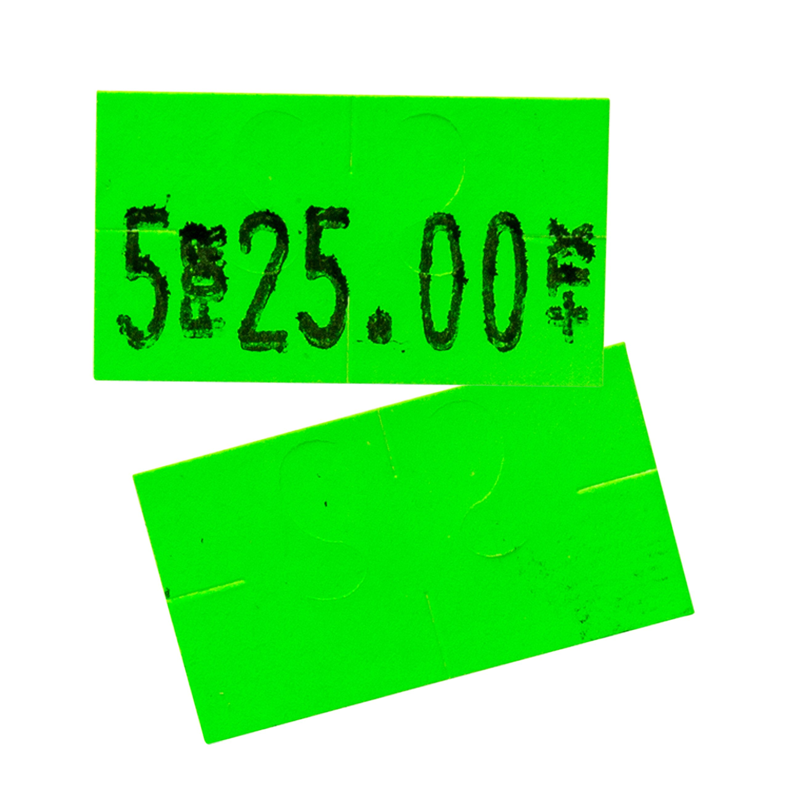 Flou. Green Pricing Labels for Monarch 1131 Price Gun - 1 Sleeve, 20,000 Price Gun Labels - with Bonus Ink Roll by Perco (Image #5)