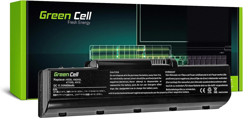 Green Cell® Standard Serie AS07A31 AS07A41 Batería para Acer Aspire 57xx 5735 5735Z 5736 5736Z 5737Z 5738 5738G 5738PZG 5738Z 5738ZG 5740 5740G Ordenador (6 Celdas 4400mAh 11.1V Negro)