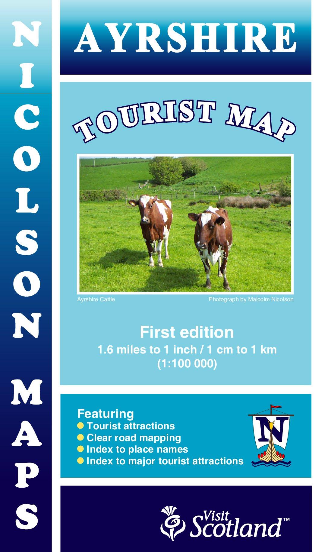 Ayrshire Tourist Map Nicolson PDF