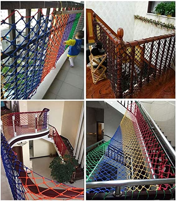 Diámetro de la cuerda de malla de nylon 6MM, Escalera infantil balcón red de seguridad, Red de decoración de bar, Red de escalada de jardín de infantes, Malla 5CM Multi-tamaño (tamaño: 2 *