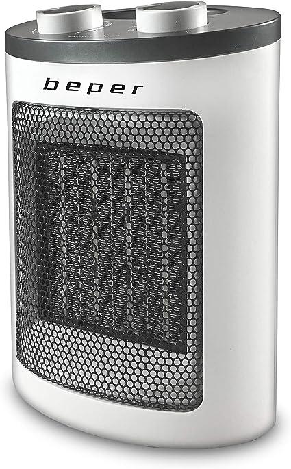 Con Maniglia Ceramic PTC Fan Heater Protezione Anti-Surriscaldamento Beper RI.080 Due Potenze Termoventilatore Ceramico Termostato Regolabile Compatto Salvaspazio Design Moderno
