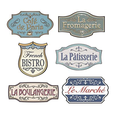 Beistle French Shop Sign Cutouts: Toys & Games