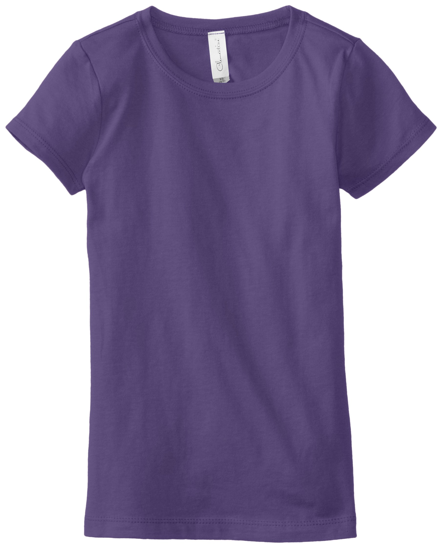 Clementine Little Girls' Everyday T-Shirt, Purple Rush, Small(6-6X)