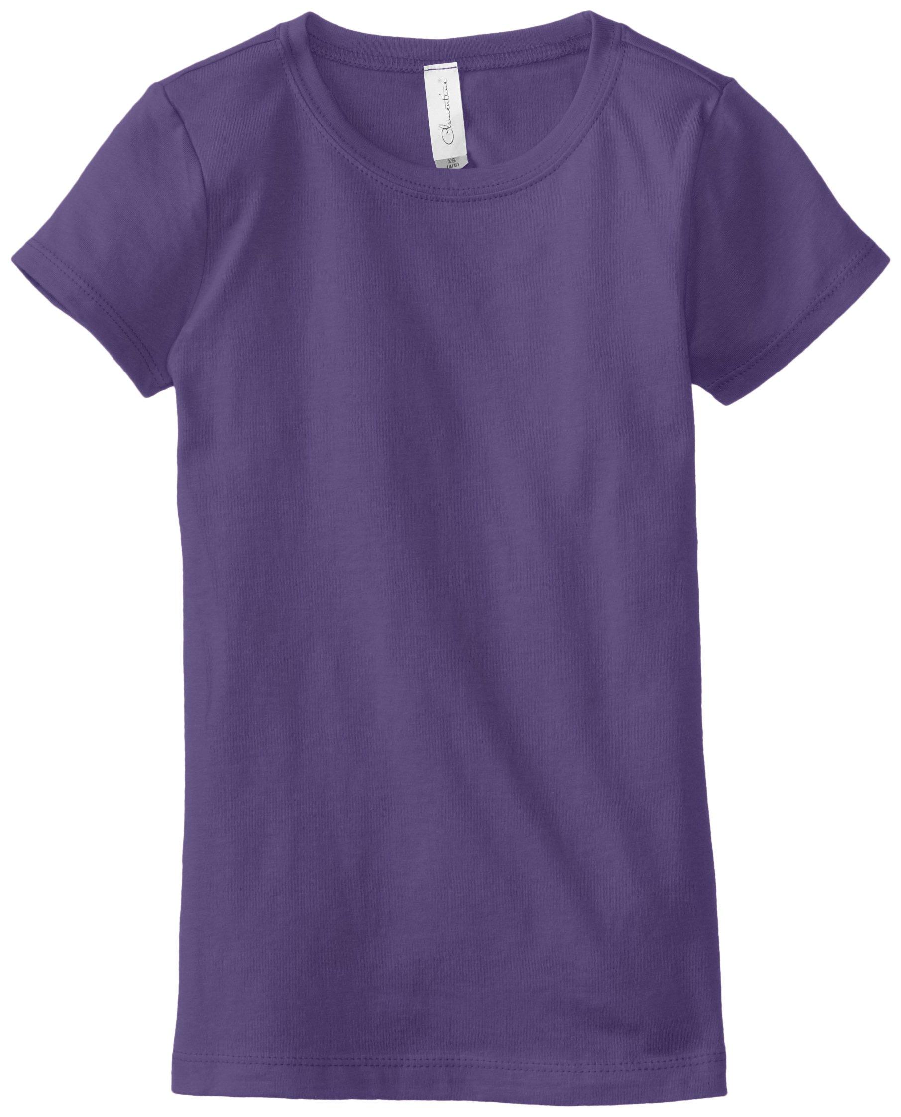 Clementine Big Girls' Everyday T-Shirt, Purple Rush, Large(10-12)
