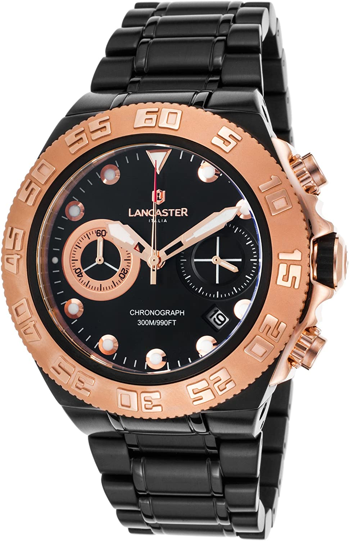 [ランカスター]Lancaster Italy 腕時計 OLA1061MB-BKRG-NR メンズ [並行輸入品]