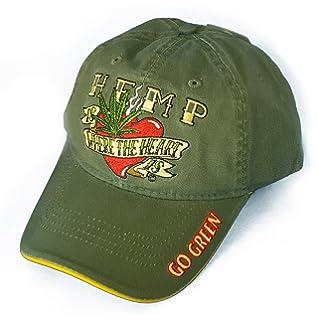 ec3ca67c57bf Hemp is Where the Heart Is Cannabis Marijuana Leaf Weed MJ Baseball Cap Hats