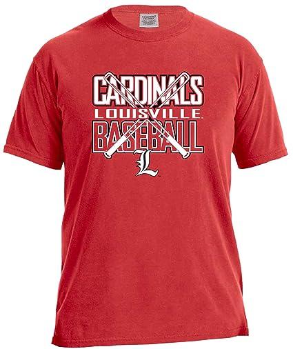 Amazon.com   NCAA Louisville Cardinals Baseball Bats Short Sleeve ... 0022f945a562