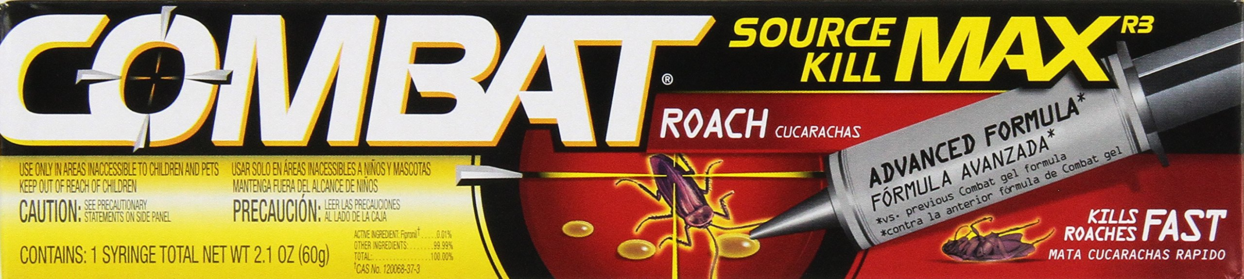 Combat Source Kill Max Roach Killing Gel, 60 Grams Pack Of 2 by Combat