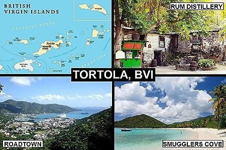 Souvenir imán para nevera - Isla De Tórtola (Islas Vírgenes ...