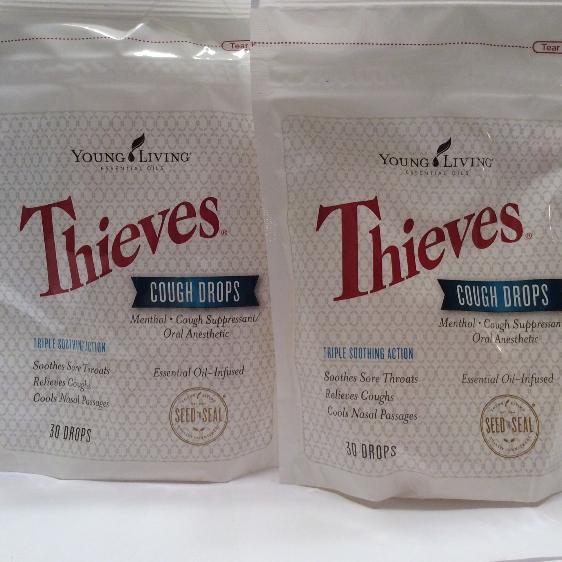 Thieves Cough Drops 30 Ct ( 2 packages ) Essential Oil Infused by Young Living Essential Oil by Young Living