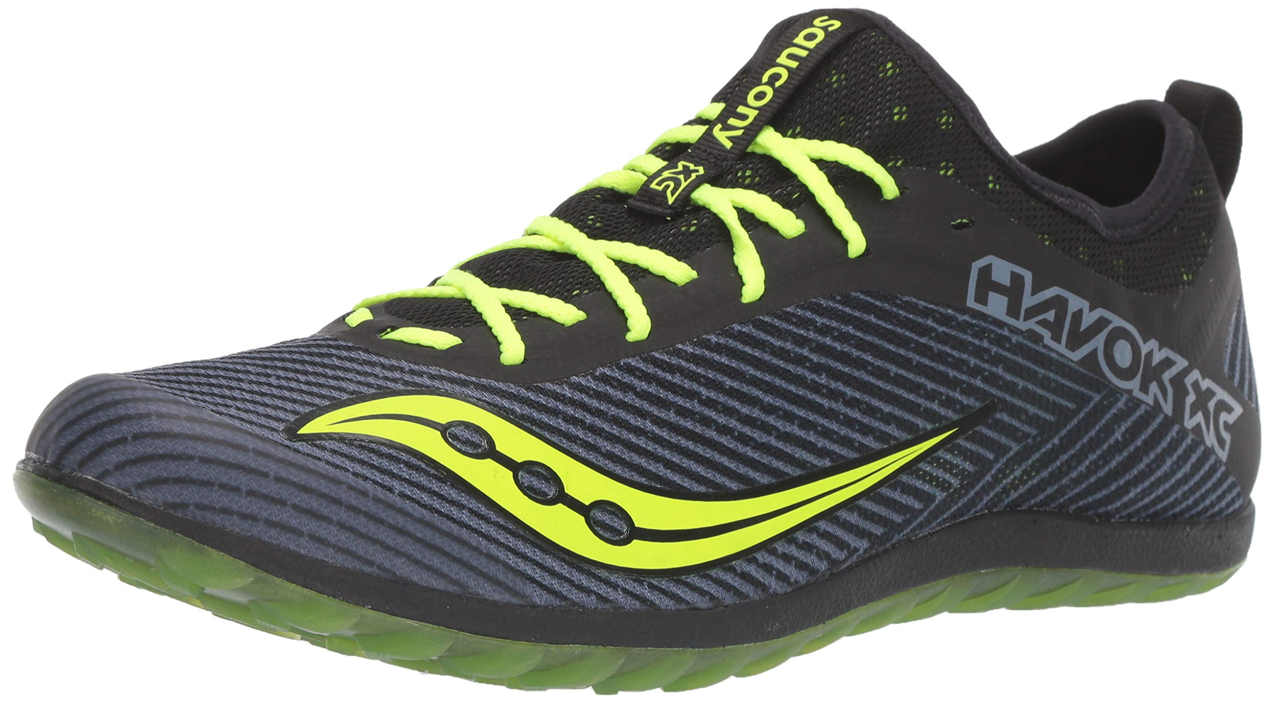 Saucony Men's Havok XC2 Flat Track and Field Shoe, Black/Citron, 7 Medium US by Saucony