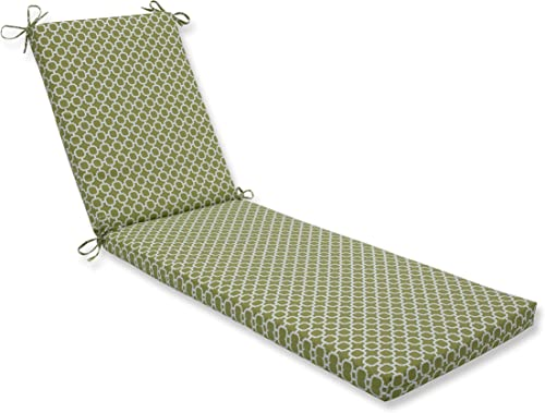 Pillow Perfect Outdoor Indoor Hockley Pear Chaise Lounge Cushion 80x23x3,Green