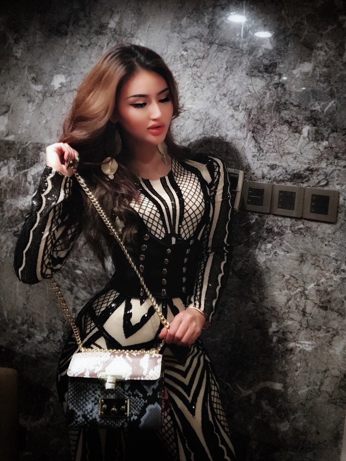 Tina Beauty Sexy Nude Mesh Black Sequins Zip Back Long Sleeve Jumpsuits Small by Tina Beauty (Image #6)