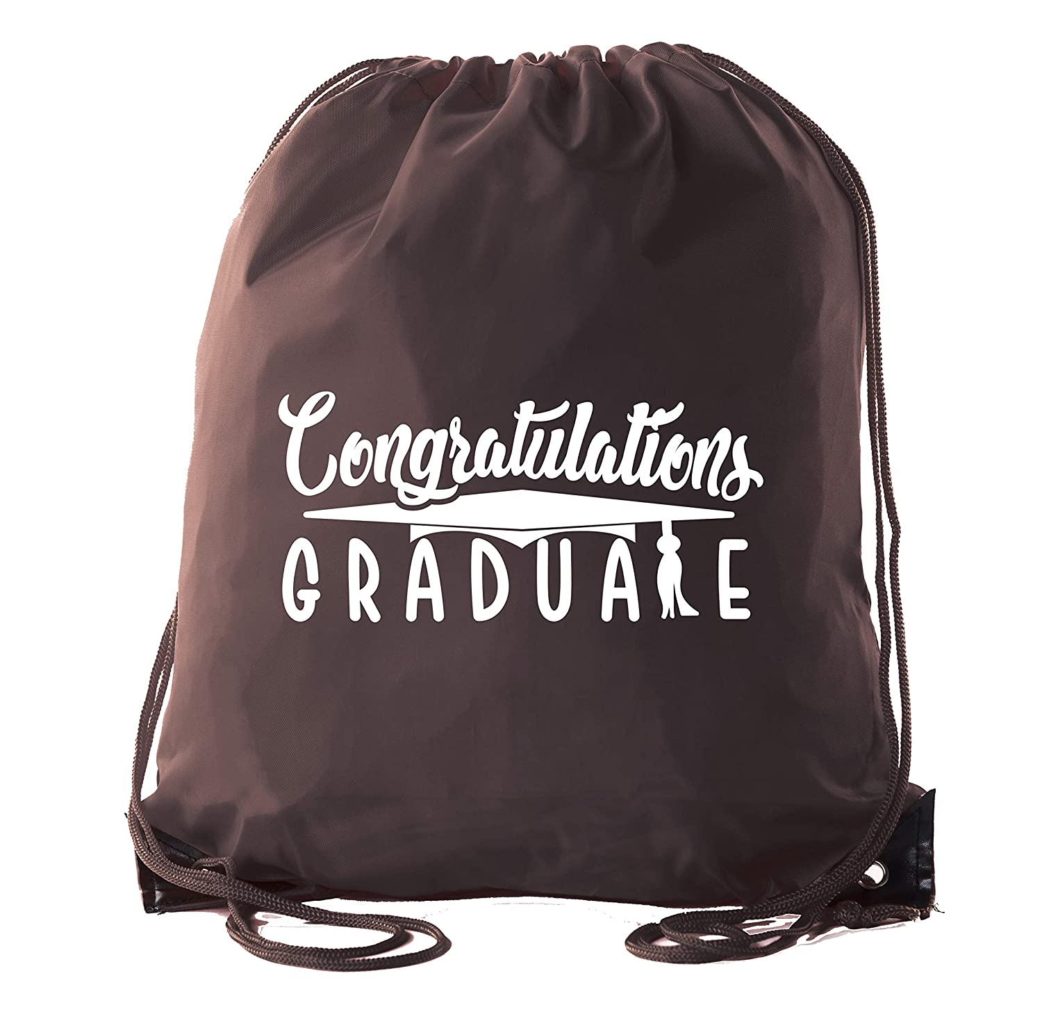 174e5ce0e18d Amazon.com  Senior Graduation Drawstring Backpacks Personalized Party Favor Cinch  Bags - Congratulation  Clothing