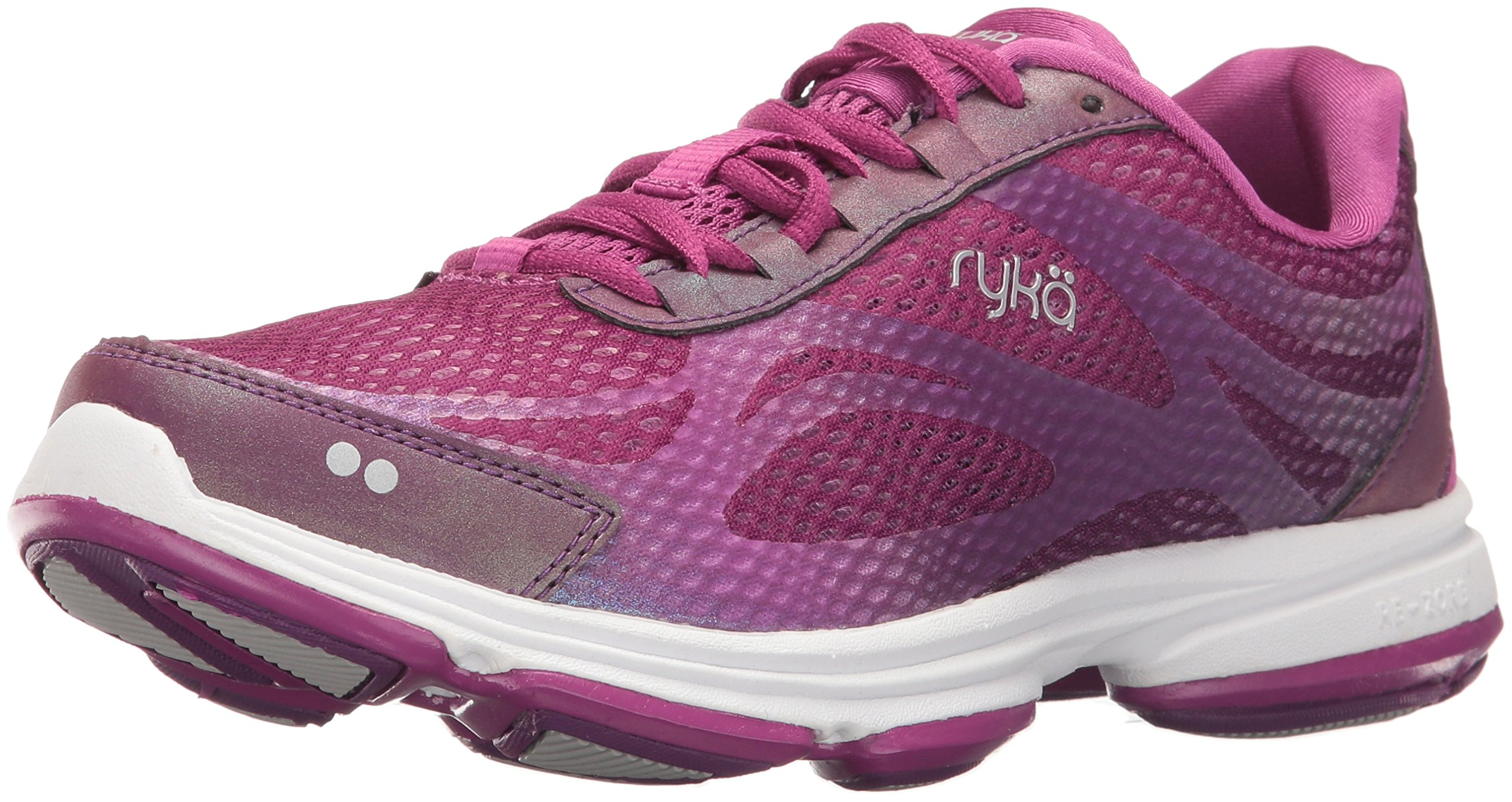 Ryka Women's Devotion Plus 2 Cross Trainer,Grape Juice/Vivid Berry/Chrome Silver