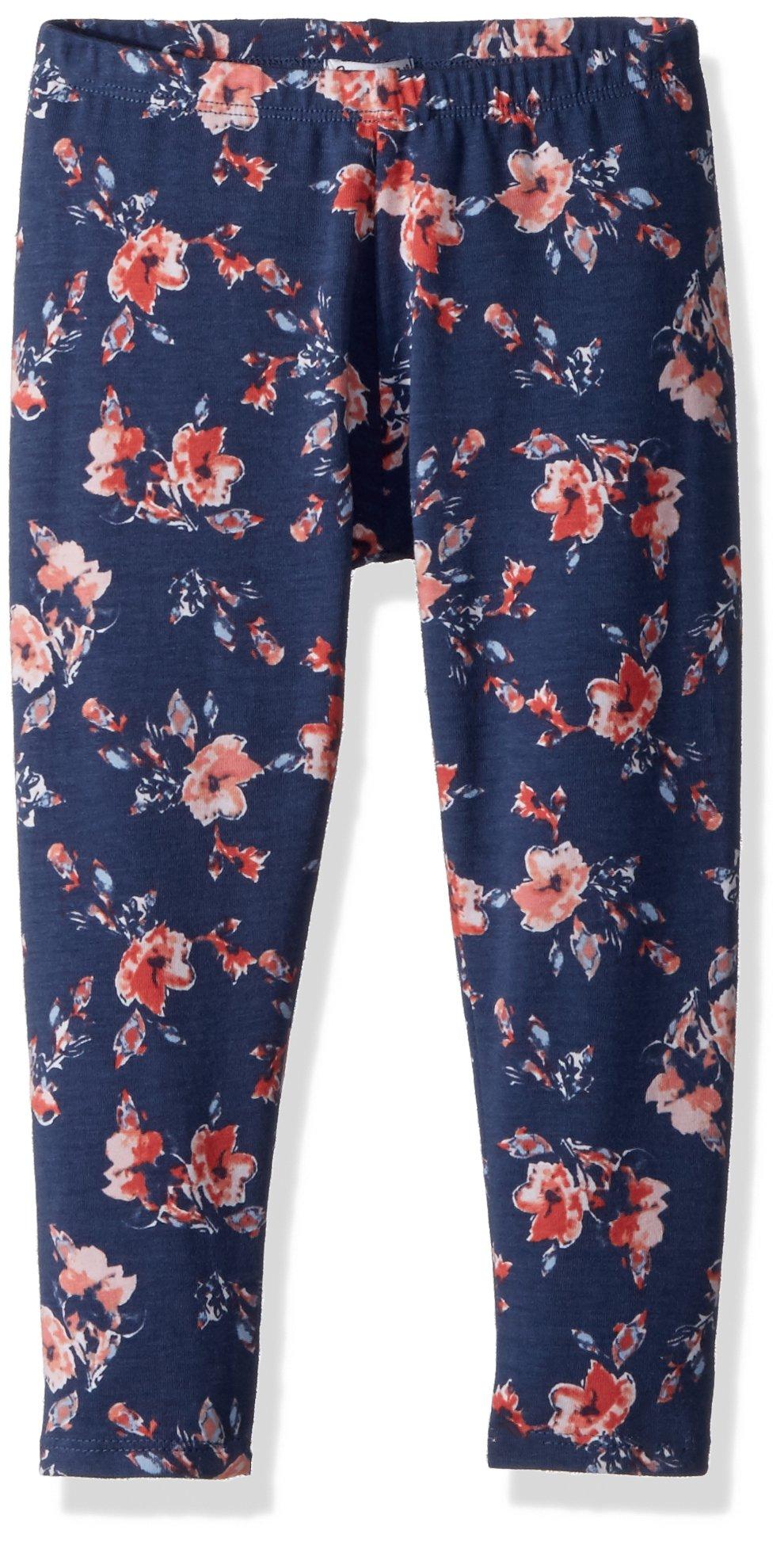 Splendid Little Girls' Floral Print Legging, Indigo Fade, 5/6