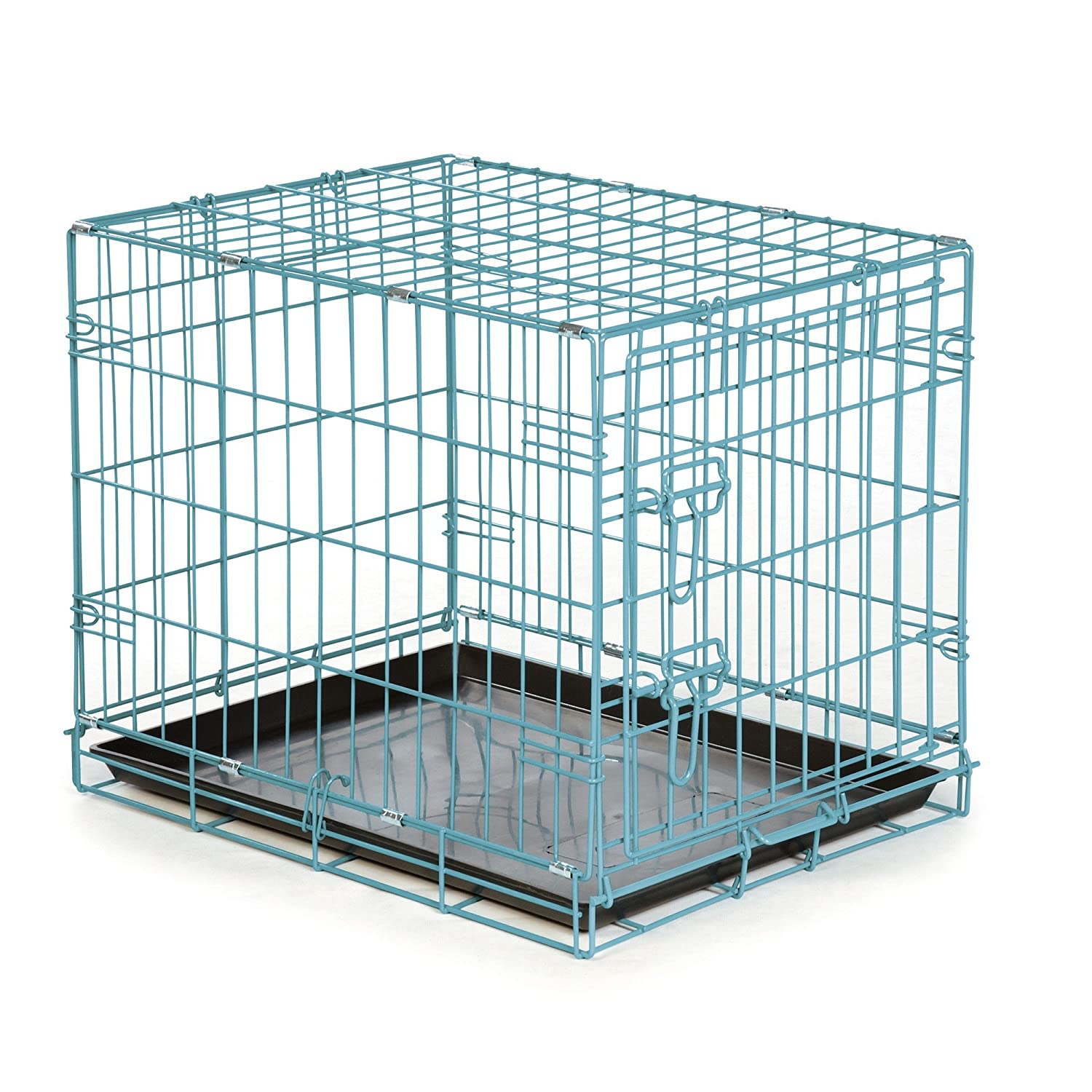 Easy Dual Latching Dog Crate, Medium/Large, Teal: Amazon.co.uk: Pet ...