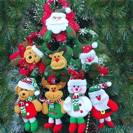 Amosfun Christmas Bracelet Elk Christmas Tree Santa Claus Shape Plush Toys Supplies 3pcs Slap Bracelet Christmas Tree Santa Claus Funny Elk Durable Plush Toy Slap Bracelet