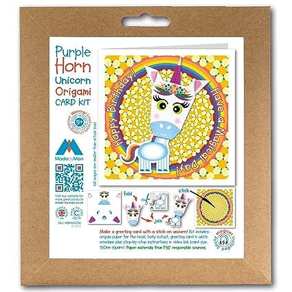 Kit de tarjetas de felicitación de origami, con diseño de ...