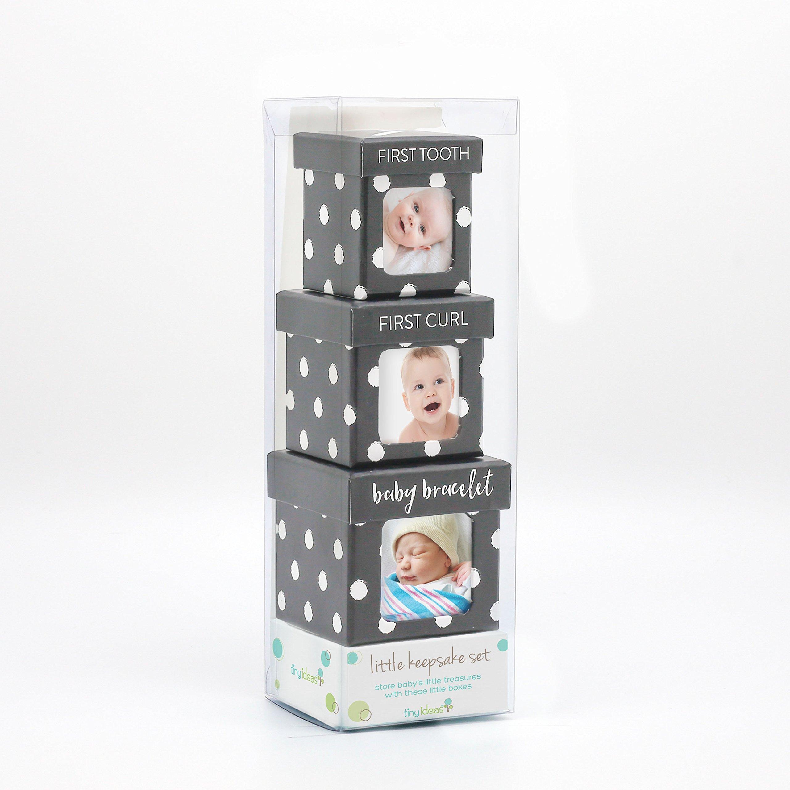 Tiny Ideas Keepsake Boxes, Perfect Nursery Décor and Keepsake Box Set, Black Dots by Tiny Ideas (Image #2)