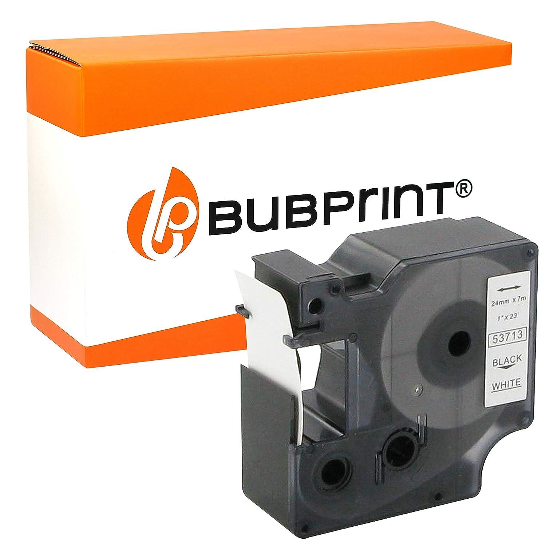 Bubprint Etichette compatibile per Dymo 53713 S0720930 d1-etiketten autoadesivo per LabelManager 24MM X 7M Rotolo NERO SU BIANCO