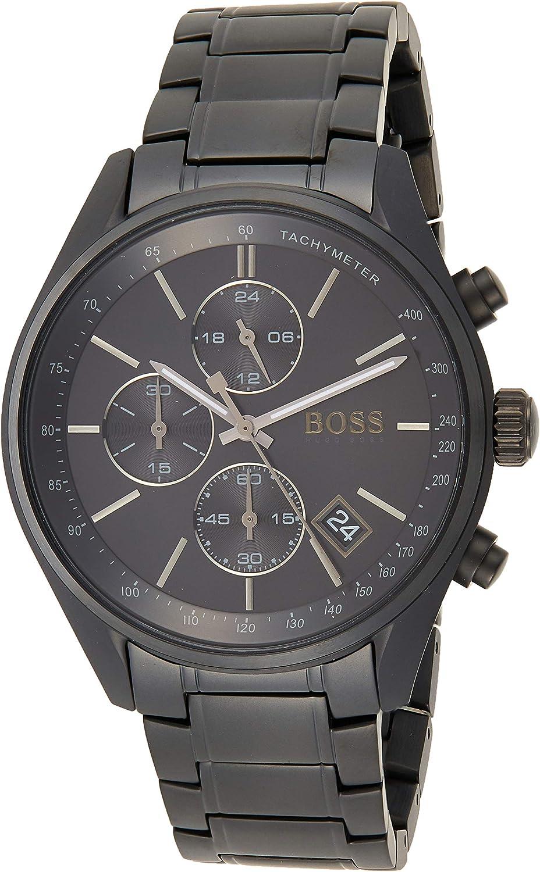 Hugo boss orologio cronografo quarzo uomo con cinturino in acciaio inox 1513676