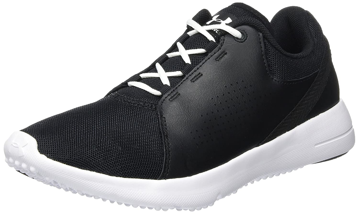 Under Armour Women's Squad Sneaker, Rhino Gray/White/Cape Coral B01N7ID0KS 9 B(M) US|Black/White/White